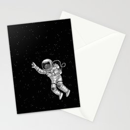 Astronaut in the outer space Stationery Cards