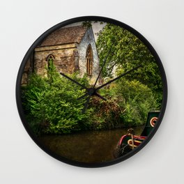 Church By The Oxford Canal Wall Clock