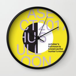 Hunter Moon - Oct 5, 2017 Wall Clock
