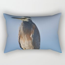 A White Faced Heron In The Wind Rectangular Pillow