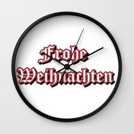 Frohe Weihnachten Wall Clock