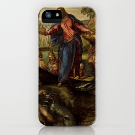 """Tintoretto (Jacopo Robusti) """"The Miracle of the Loaves and Fishes"""" iPhone Case"""