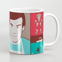 dexter Mugs featuring Dexter by Josè Sala