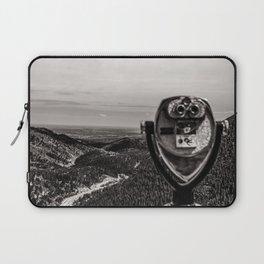 Mountain Tourist Binoculars Black and White Laptop Sleeve