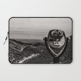 Mountain Tourist Binoculars Black and White Laptop Sleeve