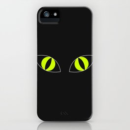 Cat Eyes - Halloween Illustration iPhone Case
