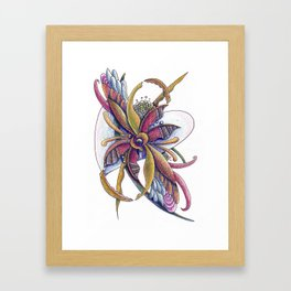 Trapped in honeysuckle Framed Art Print