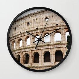 The Colosseum Roma Italia Wall Clock