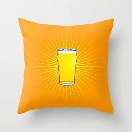 Beer Pint Star Throw Pillow
