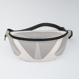 Crystal Vibration - Black White Abstract Fanny Pack