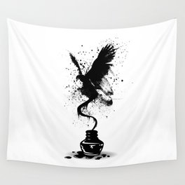 Ink Eagle Wall Tapestry