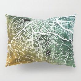Cape Town South Africa City Street Map Pillow Sham