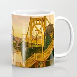 Pittsburgh Ballpark Riverview Sunrise Print Coffee Mug
