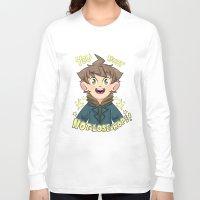 dangan ronpa Long Sleeve T-shirts featuring mokoto naegi- you must not lose hope shirt by zamiiz