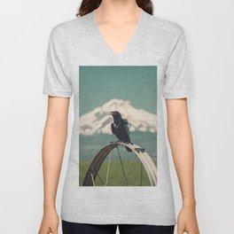 Mt. Jefferson Raven Unisex V-Neck