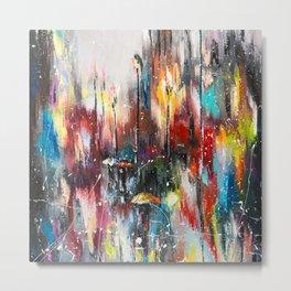 Rainy London Metal Print