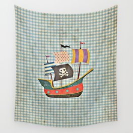 Vintage Pirates Wall Tapestry