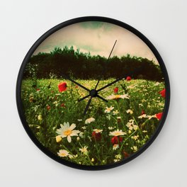 Poppies in Pilling Wall Clock