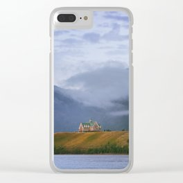 Sunrise over Waterton Lakes National Park and The Prince of Wales Hotel .3 Clear iPhone Case