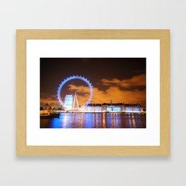London Midnight Eye Framed Art Print