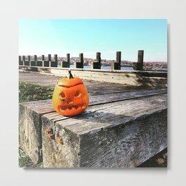 Long Dock Beacon NY - Lost Pumpkin Metal Print