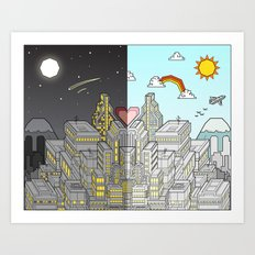 Night & Day Art Print