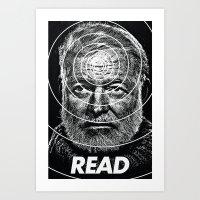 hemingway Art Prints featuring Hemingway  by Ugly Borealis