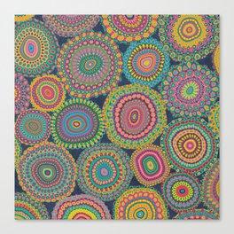 Boho Patchwork-Eden colors Canvas Print