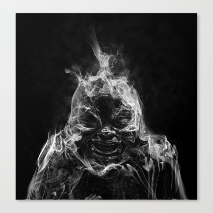 Creepy Buddha Canvas Print
