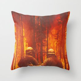 Firefighters Hero Throw Pillow
