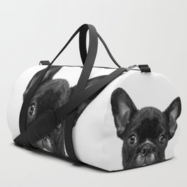 Black and White French Bulldog Duffle Bag
