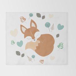 Sleeping Fox Throw Blanket