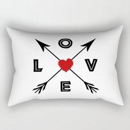 Love compass arrows Rectangular Pillow