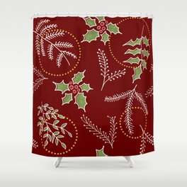 Classic Xmas #society6 #xmas Shower Curtain