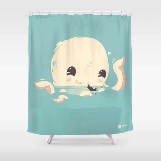 Adorable Octopus Battle Shower Curtain