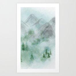 The Deep Dark Mountains Art Print