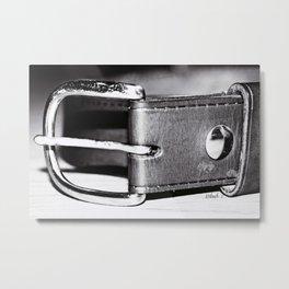 Belt Buckle Metal Print