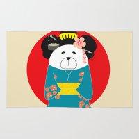geisha Area & Throw Rugs featuring Geisha by EinarOux