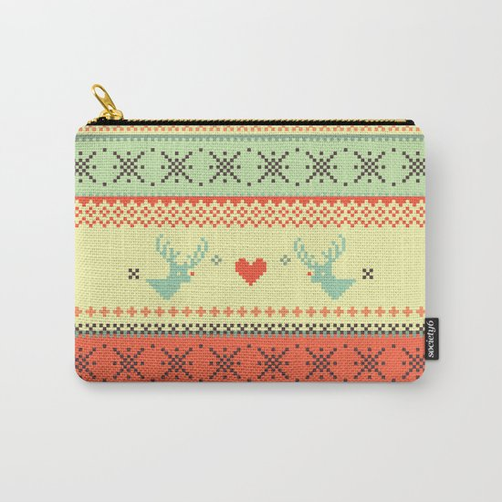 Holiday Pixels Carry-All Pouch