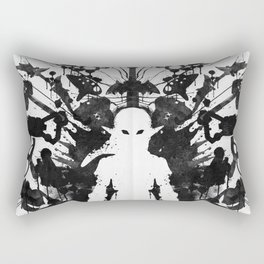 Ink Blot Link Kleptomania Geek Disorders Series Rectangular Pillow