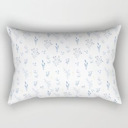 Small blue flowers Rectangular Pillow