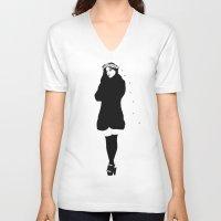 spanish V-neck T-shirts featuring SPANISH SAHARA by Stephan Parylak