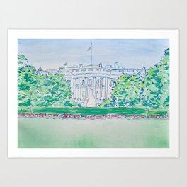 White House Print Art Print