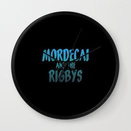 Mordecai and the Rigbys Wall Clock