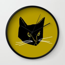 Mr. Black Cat Wall Clock