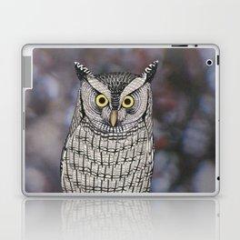 eastern screech owl on a branch Laptop & iPad Skin