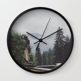 In The Mists of Romania Wall Clock