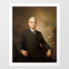 Harry Truman Portrait (1945) Art Print