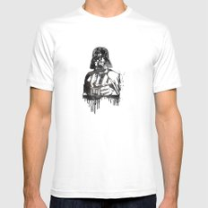 Darth Vader Mens Fitted Tee MEDIUM White