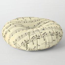 Antique Sheet Music Floor Pillow